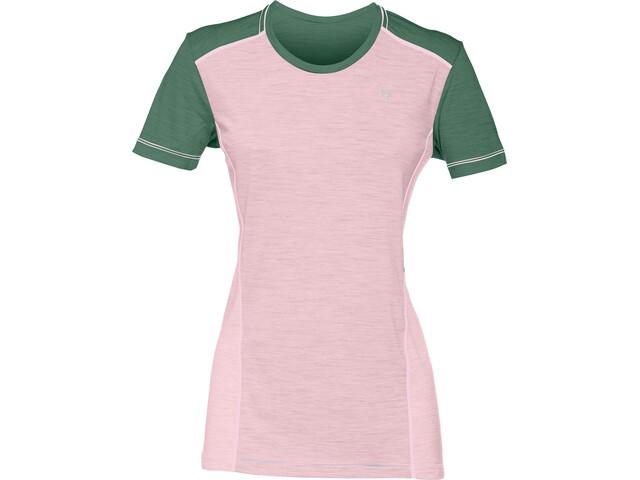 Norrøna Wool T-Shirt Femme, candy pink